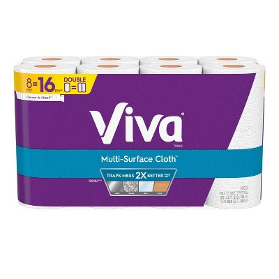 Viva Multi-Surface Choose-A-Sheet Cloth Paper Towels  - 8 Double Rolls