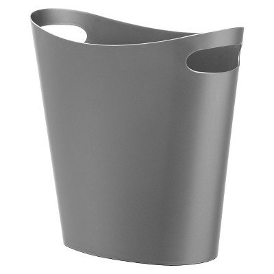 Slim Can Bathroom Wastebasket Silver Umbra Loft