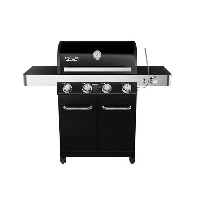 4-Burner Propane Gas Grill with LED Controls Black Model 13892 - Monument Grills