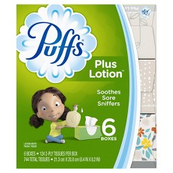 Puffs Plus Lotion Facial Tissue - 6pk