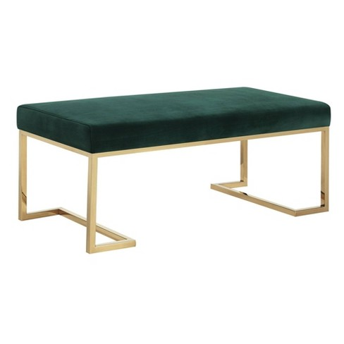 Fine Clay Upholstered Bench With Gold Metallic Legs Evergreen Picket House Furnishings Gmtry Best Dining Table And Chair Ideas Images Gmtryco