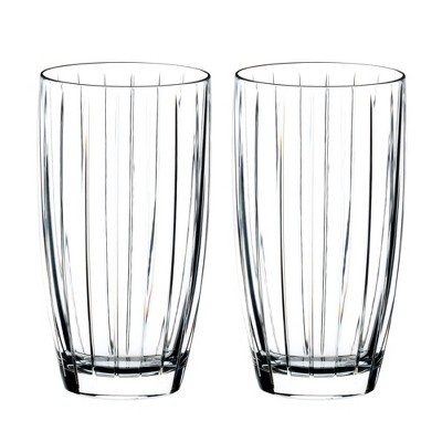 Riedel 0515/04S6 Sunshine Classic Crystal Long Drink All Purpose Soda Cocktail Beverage Drinking Glass, 13.9 Ounces, (2 Pack)
