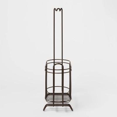Reserve Basket with Freestanding Toilet Tissue Holder Bronze - Threshold™