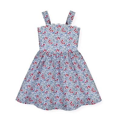 Hope & Henry Girls' Sleeveless Fit and Flare Summer Dress, Toddler