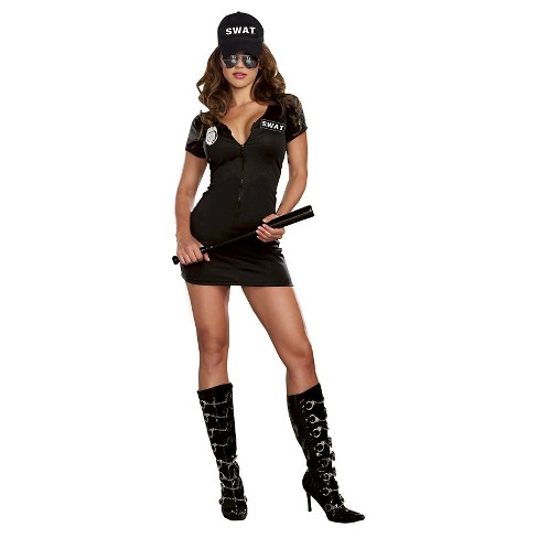 Women's S.W.A.T Police Costume Black - image 1 of 1