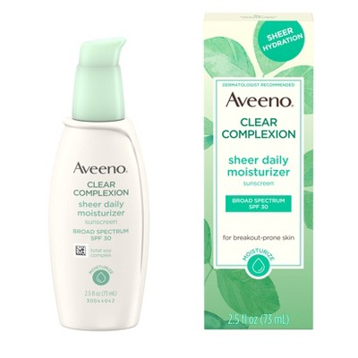 Facial Moisturizer: Aveeno Clear Complexion Sheer Daily Moisturizer