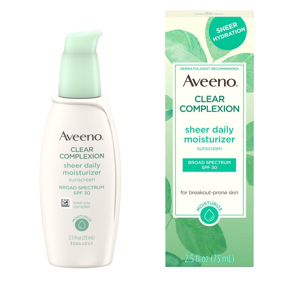 Image of Aveeno Clear Complexion Sheer Daily Moisturizer - SPF 30 - 2.5 fl oz