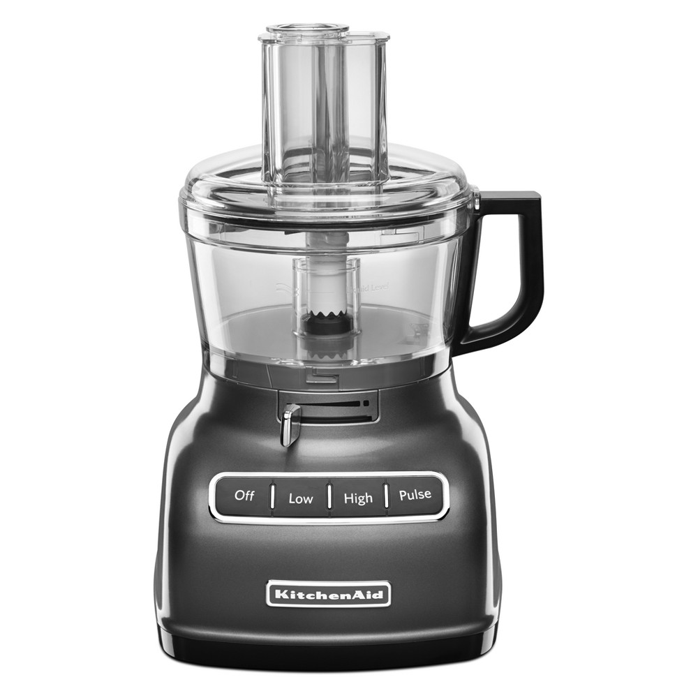 KitchenAid Refurbished 7 Cup Food Processor – Graphite (Grey) RKFP0722QG 53422794