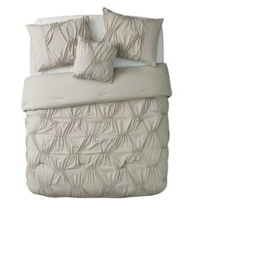 Taupe Monica Comforter Set (King)- VCNY®