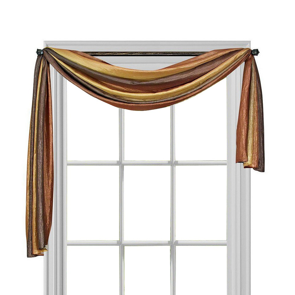 Ombre Window Curtain Scarf Tan (50x144) - Achim