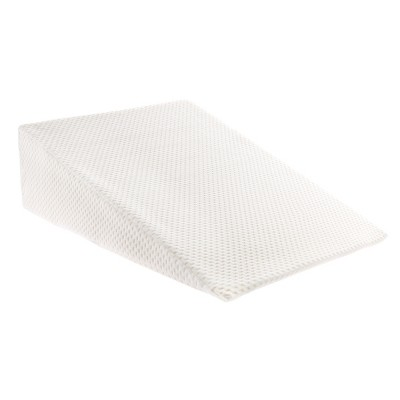 Hastings Home Memory Foam Wedge Pillow with Bamboo Fiber Cover - Ivory