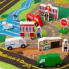 Melissa & Doug Deluxe Activity Road Rug Play Set with 49pc Wooden Vehicles and Play - image 3 of 4