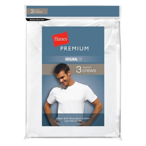 fbde5ad55a8 Hanes Premium® Men s 3-Pack Crew Neck T-Shirts - White   Target