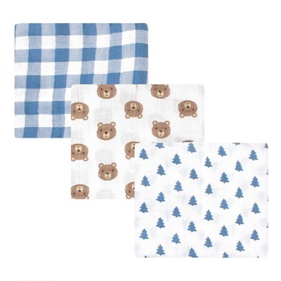 Hudson Baby Unisex Baby Cotton Muslin Swaddle Blanket - Little Bear One Size