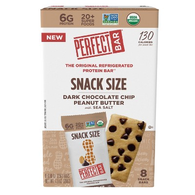 Perfect Bar Dark Chocolate Chip Peanut Butter Snack Size Protein Bars - 7oz/8ct