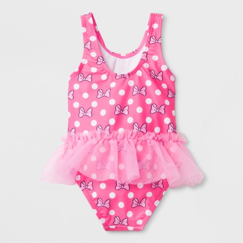 73cc9a6dfd890 Toddler Girls' Disney Mickey Mouse & Friends Minnie Mouse One Piece Swimsuit  - Pink 3T : Target
