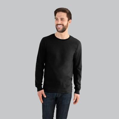 61932f686 Fruit of the Loom Men's Long Sleeve T-Shirt – Black L – Target ...