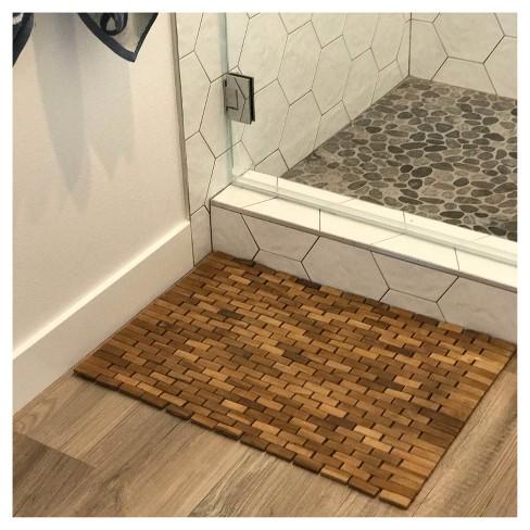 Teak Bath Floor Mat