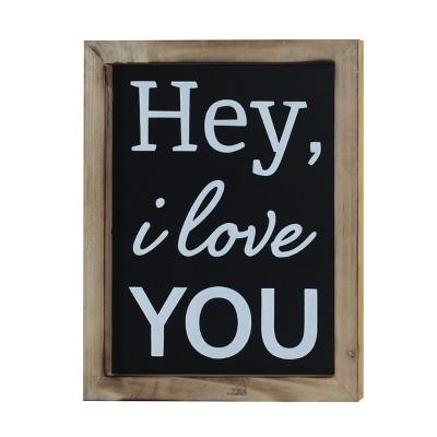 Hey I Love You Wall Decor Sign (10 x12 )- VIP Home & Garden