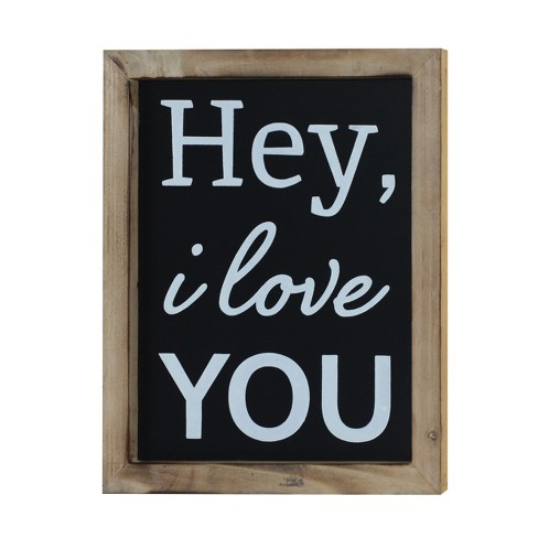"""Hey I Love You Wall Decor Sign (10""""x12"""") - VIP Home & Garden - image 1 of 3"""
