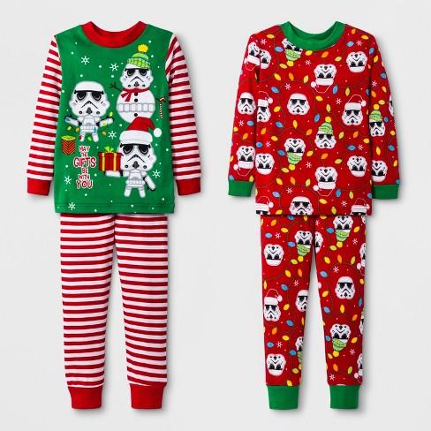 af7adde55 Toddler Boys  Star Wars 4pc Pajama Set - Green 4T   Target