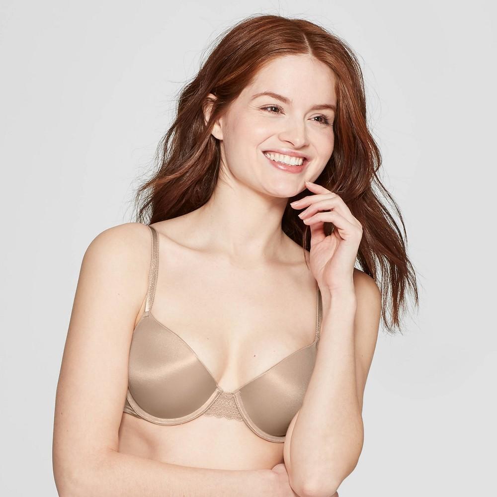Womens Daydream Light Lift Demi T-Shirt Push-Up Bra - Auden Pearl Tan 32DD Compare