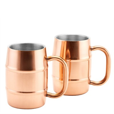 Old Dutch 16.9oz 2pk Stainless Steel KeepKool Mugs