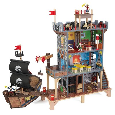 KidKraft Pirates Island Hideout Treasure Cove and Ship Play Set with Figures