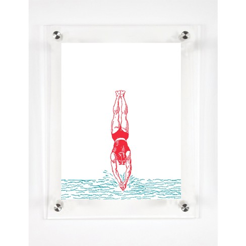 Mitchell Black - Divers In the Water Decorative Framed Wall Canvas - image 1 of 1