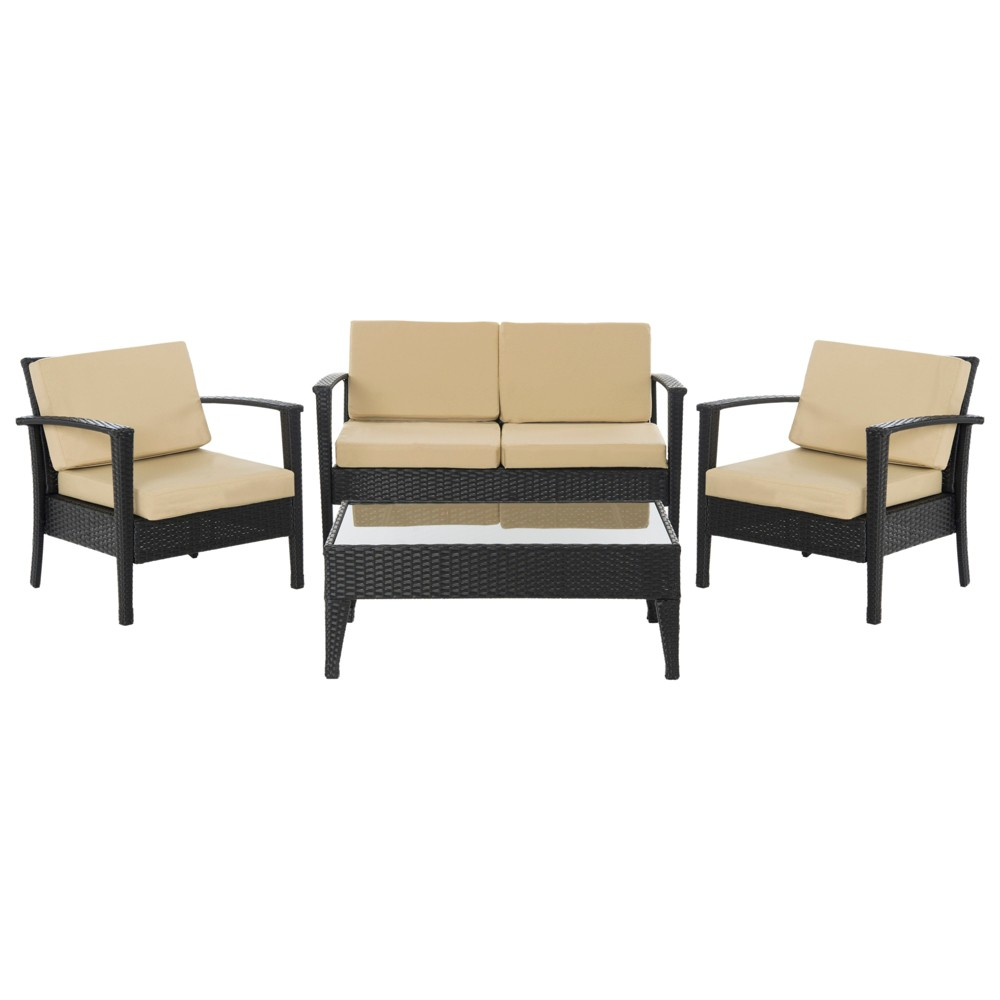 4-Piece Piscataway Set - Beige - Safavieh, Brown/Beige
