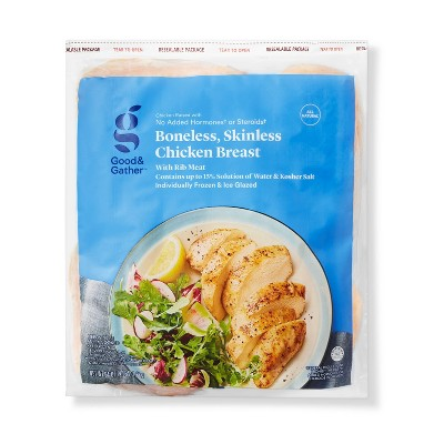 Boneless & Skinless Chicken Breast - Frozen - 4lbs - Good & Gather™