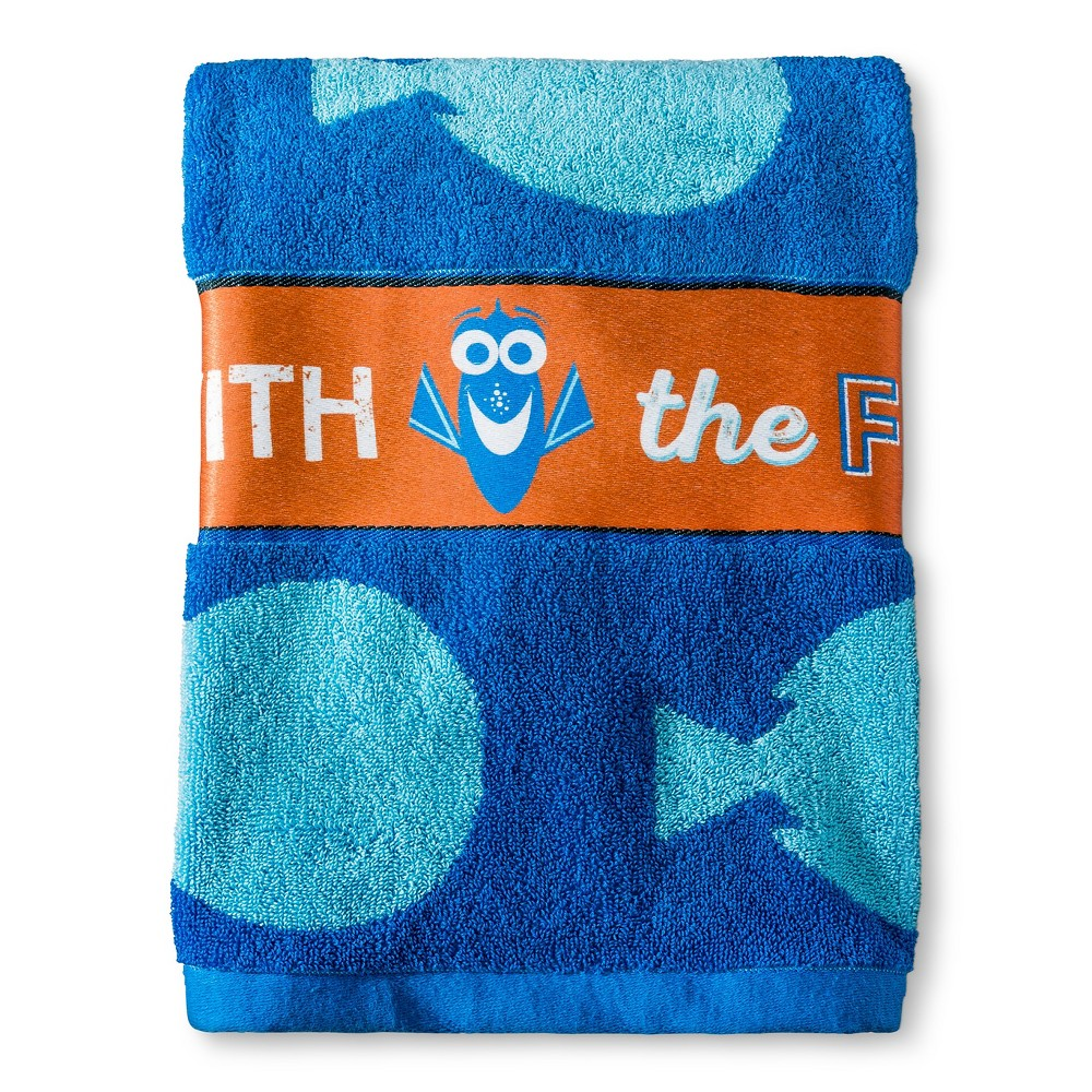Finding Dory Bath Towel Blue & White - Disney