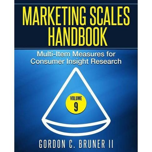 Marketing Scales Handbook - by  Gordon C Bruner II (Paperback) - image 1 of 1