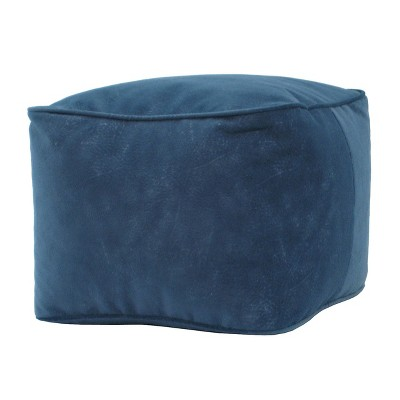 Square Ottoman Blue - Gold Medal