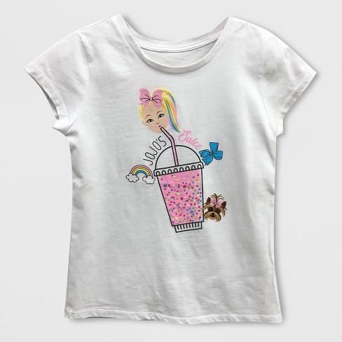 57b300cd1 Girls  JoJo Siwa Short Sleeve T-Shirt - White   Target