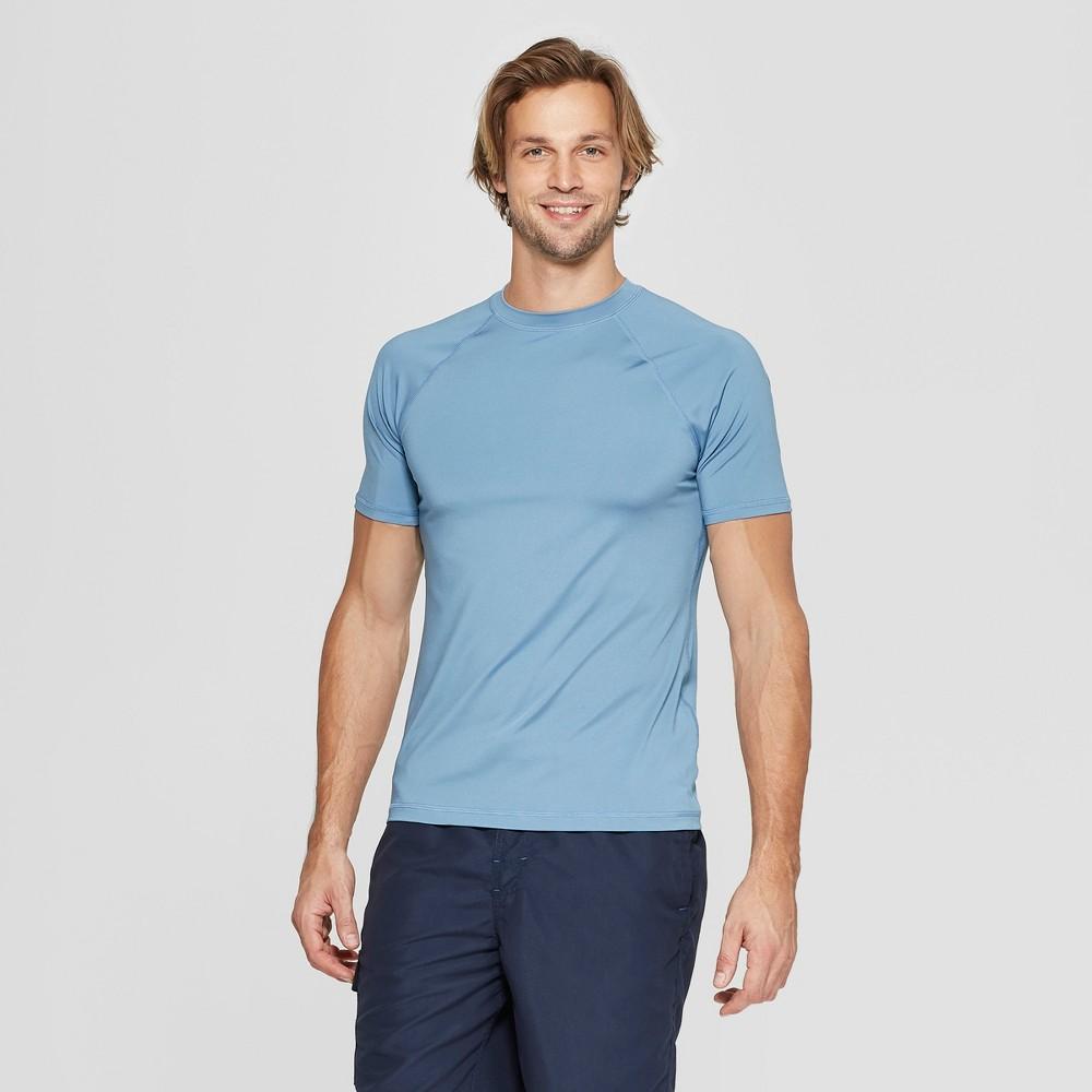 Men's Short Sleeve Rash Guard - Goodfellow & Co Blue 2XL