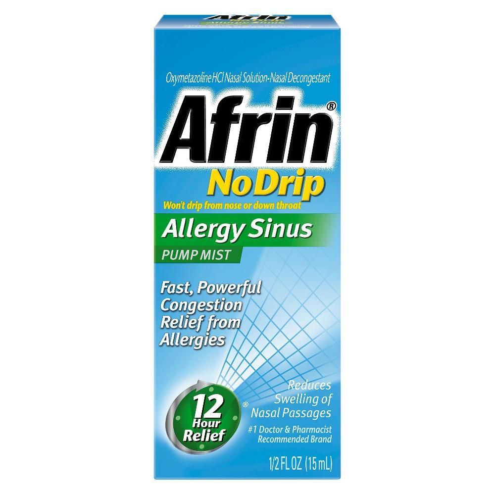 Image of Afrin No Drip Allergy Sinus Mist Pump - 0.5 fl oz