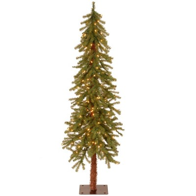 National Tree Company 5ft Pre Lit Hickory Cedar Slim Artificial Tree With 150 Clear Lights by National Tree Company