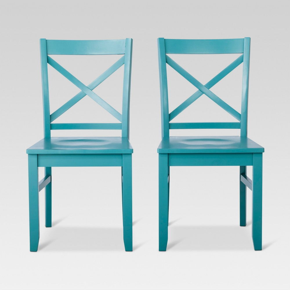Carey Dining Chair - Teal (Blue) (Set of 2) - Threshold