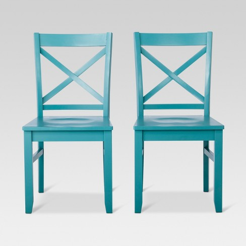 Stupendous Carey Dining Chair Teal Set Of 2 Threshold Dailytribune Chair Design For Home Dailytribuneorg