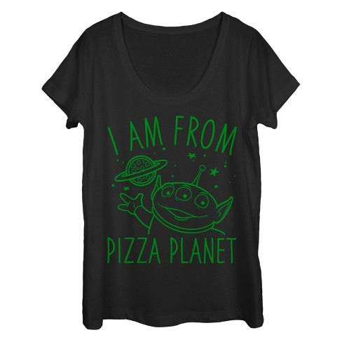 Women's Toy Story Come in Peace from Pizza Planet Scoop Neck - image 1 of 1