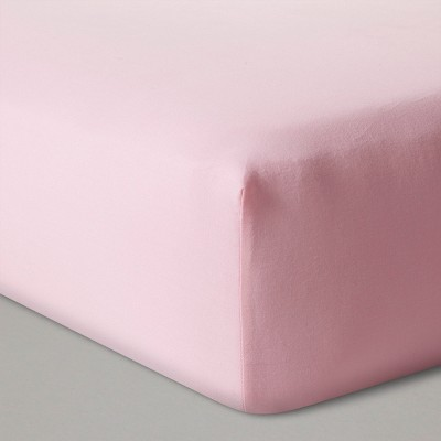 Fitted Crib Sheet Solid - Cloud Island™ Pink