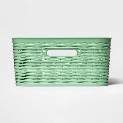 Wave Medium Rectangle Basket Crisp Green - Room Essentials™
