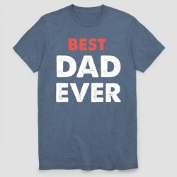 Men's Best Dad Ever Father's Day Short Sleeve Graphic T-Shirt - Navy Heather