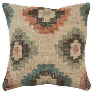 Geometric Decorative Filled Oversize Square Throw Pillow Blue - Rizzy Home