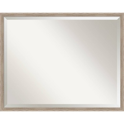 Hardwood Wedge Framed Bathroom Vanity Wall Mirror - Amanti Art