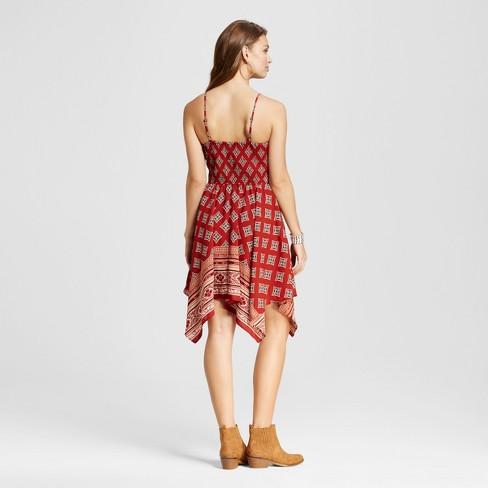 ba94dd0e23be60 Women s Hanky Hem Fit   Flare Dress - Xhilaration™ (Juniors ) Rust S    Target