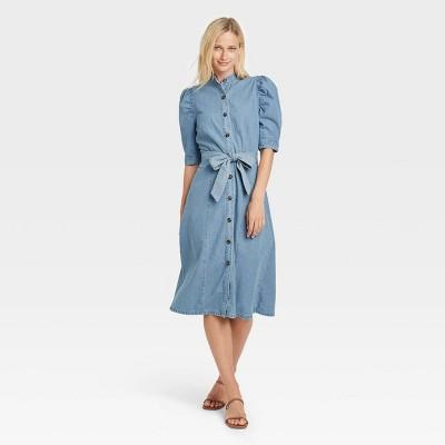 Women's Puff Elbow Sleeve Shirtdress - Who What Wear™