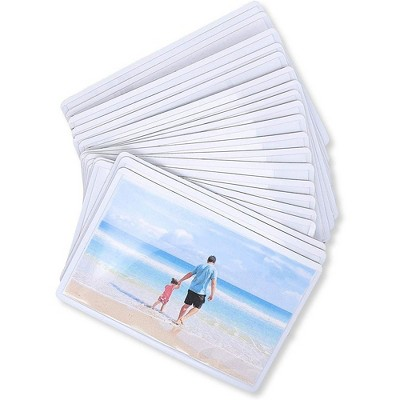 24-Pack Magnetic Wallet Picture Frame, 2.5 x 3.5 inches