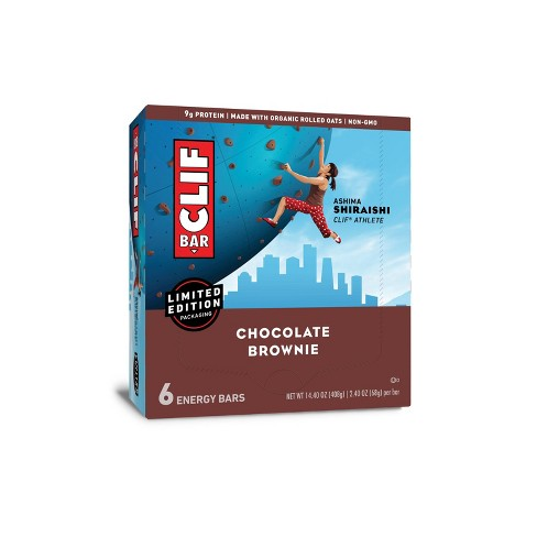 CLIF Bar Chocolate Brownie Energy Bars - 6ct - image 1 of 4